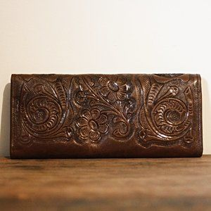 Yeo Mexican Leather Tooled Floral Wallet